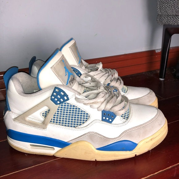 "newest 2c5f0 44715 Jordan ""Military Blue"" 4s"